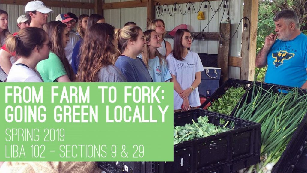 LIBA 102 Farm to Fork: Eating Green Locally