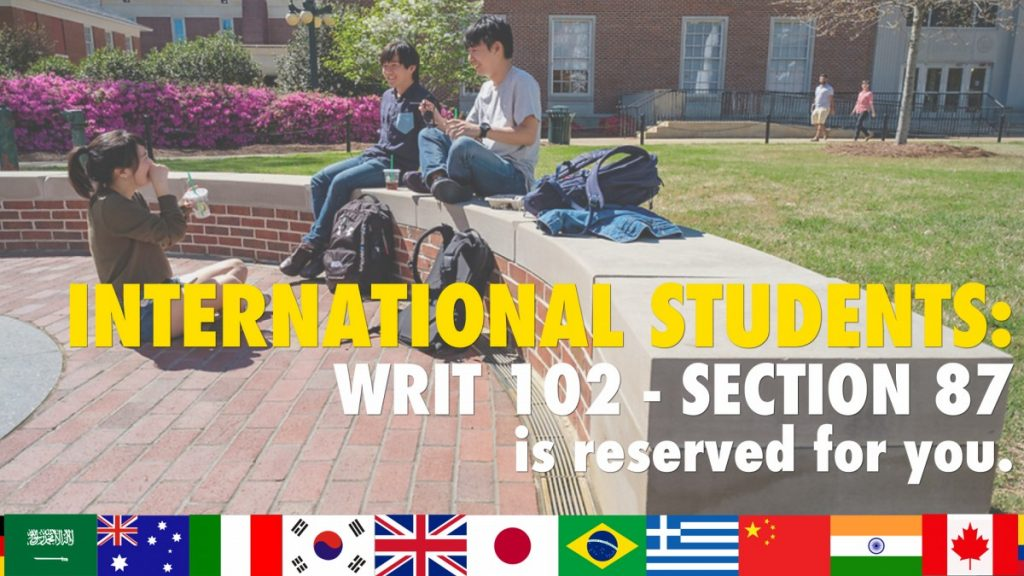 WRIT 102 for International Students